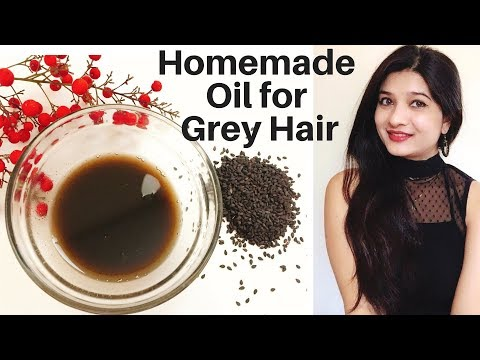 Natural homemade oil for grey hair in Hindi | Grey hair tips | Kalonji oil | AVNI