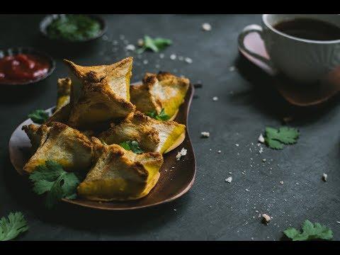 Bread Pakora Shaping