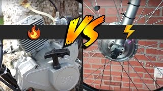 Electric Bikes vs Motorized Gas Bikes | 2017 Comparison Guide