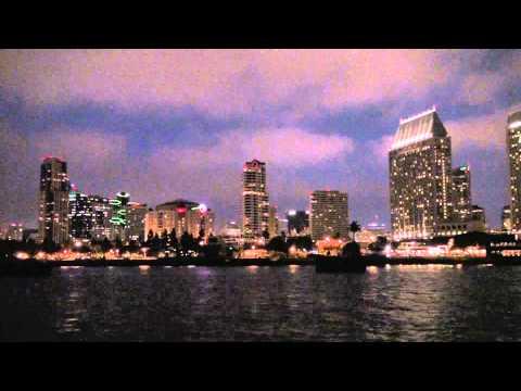San Diego - Skyline from Coronado Ferry - Night