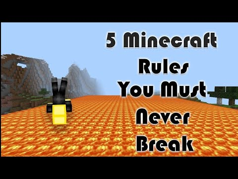 5 Minecraft Rules You Should Never Break | MrSlimeGuy