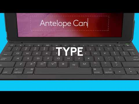 Logitech Slim Folio keyboard case for iPad (5th and 6th generation)
