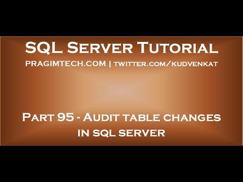 Audit table changes in sql server