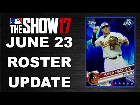 JUNE 23 ROSTER UPDATE | MLB 17 THE SHOW DIAMOND DYNASTY