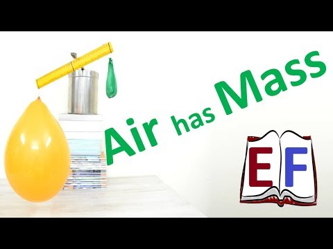 Experiment to prove that  Air has mass : School Science Project DIY Physics