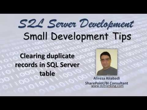 How to delete duplicate records from SQL Server