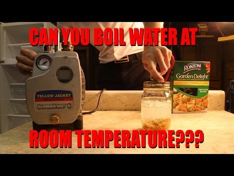 Can you Boil Water at Room Temperature??