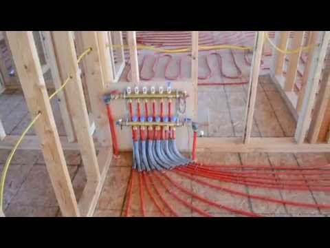 Video Showing Radiant Tubing Installed On A Plywood Floor.