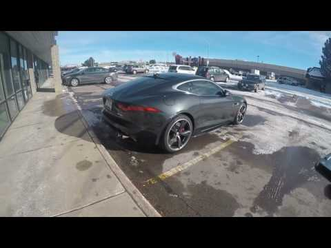 Picking up my Jaguar F-Type and avoiding idiots.