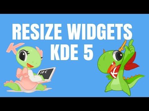 How to resize widgets in KDE plasma 5