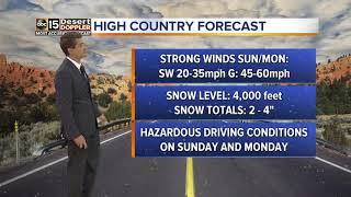 Cold front heading for the Valley