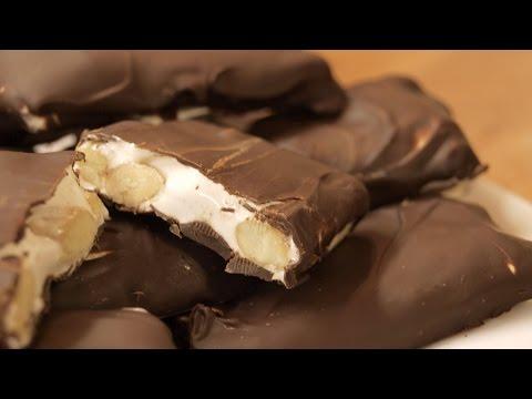 Нуга в шоколаде / How to make Nougat bars ♡ English subtitles