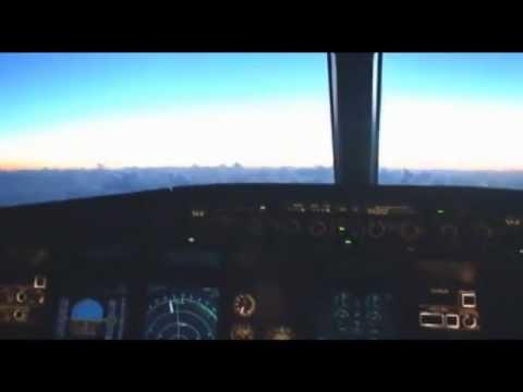Cockpit Madeira rwy 05, flight from Sofia.