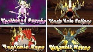 Pokémon Ultra Sun / Moon - All Z-Moves with Legendary Pokémon