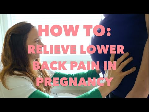 OSTEOPATHY: HOW TO RELIEVE LOWER BACK PAIN IN PREGNANCY
