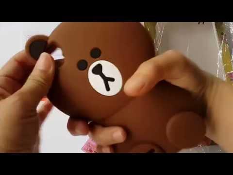 Case 3D Brown Line Teddy, Casing Hp Brown Line, Brown Line Teddy Bear