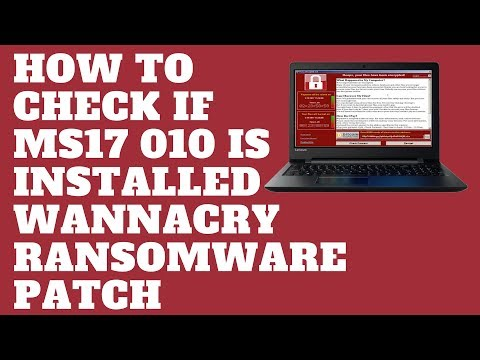 How to Check if MS17 010 is installed Wannacry Ransomware Patch
