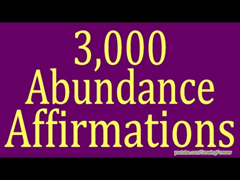 3000 ★POWERFUL★ Abundance Affirmations. Law of Attraction, Subconscious Mind, Prosperity, Wealth