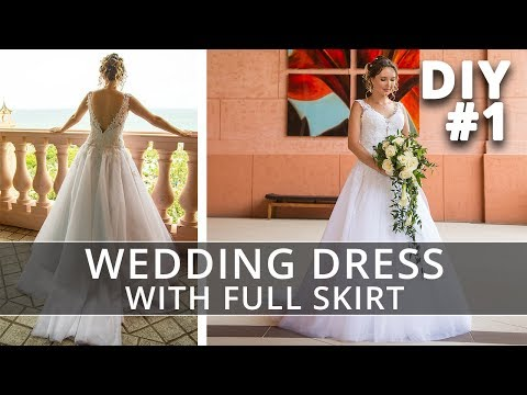 How to make a Wedding Dress with straps and full skirt | Peculiarities of Long Distance Sewing