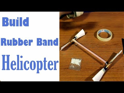 Build a Rubber Band Helicopter Out of Straw and Cup - Very EASY