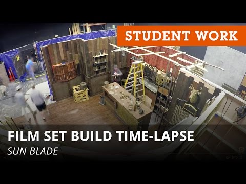 Watch a Film Set Go Up in 3 Minutes (Time-Lapse)