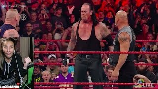 WWE Raw 1/23/17 Brock Lesnar Goldberg and UNDERTAKER