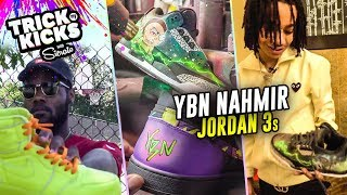 YBN NAHMIR Gets Rick & Morty Customs From NBA Sneaker Artist Sierato! Jordan 3s GO HARD 😱