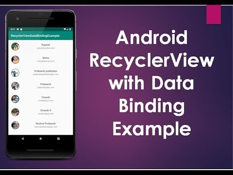 How to create a RecyclerView with Images & Text using Data Binding Library.