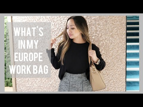 What's In My Work Bag  - Europe Travel Edition   Sight Vegan Leather Tote   STYLE