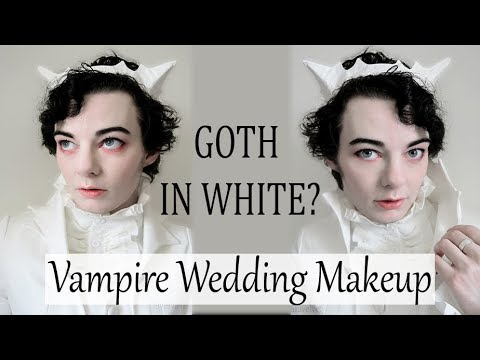 WHITE GOTH Makeup and Outfit
