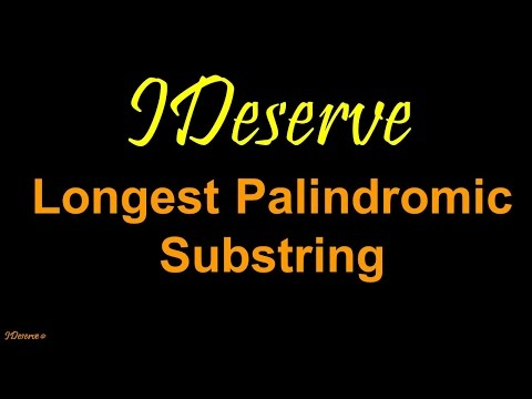 Programming Interview Question: Longest Palindromic Substring