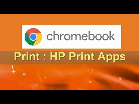 Printing from Chromebook using HP Print for Chrome