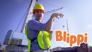 Learning Construction Vehicles For Kids With Blippi | Trucks For Kids