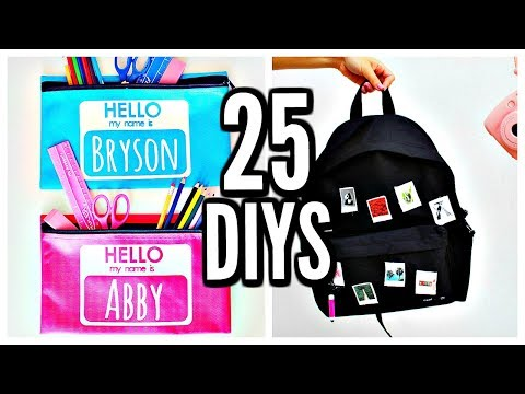25 DIY SCHOOL SUPPLIES! Back To School 2017-2018