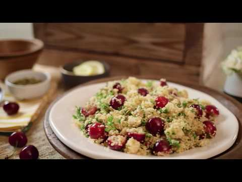 Fresh Cherry Pepita Golden Couscous Salad