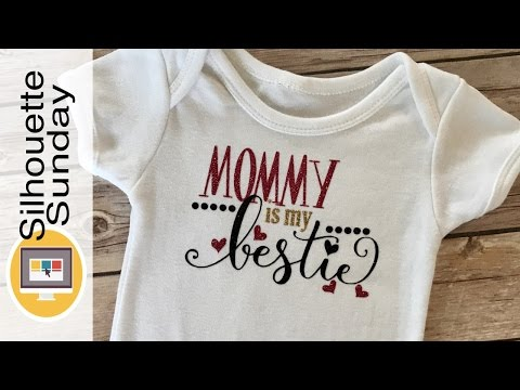 Baby Onesie (Multi-Colored SVG Files) | Silhouette Sunday