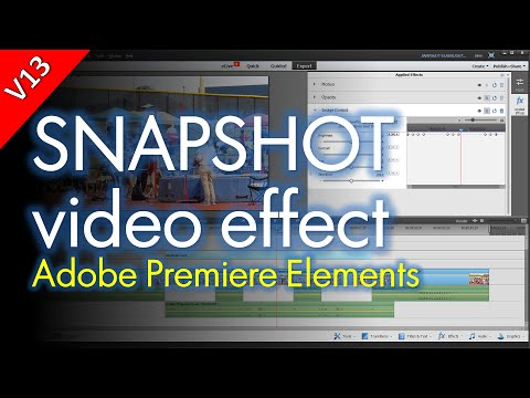Adding Snapshot or Flashlight Effects to Videos, Adobe Premiere Elements