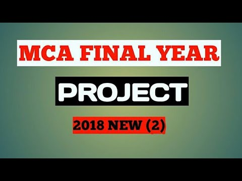mca final year project #2 (2017 new)