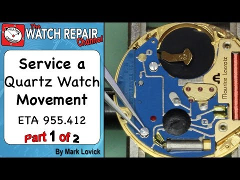 How to service a quartz movement. ETA 955 412. Watch repair tutorials