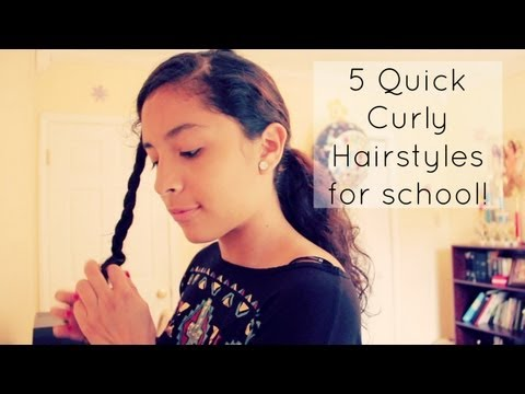 5 Quick Curly Hairstyles for School!