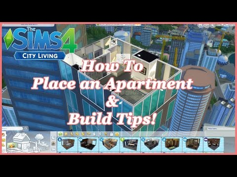 The Sims 4 - City Living - How to place an apartment and build tricks!