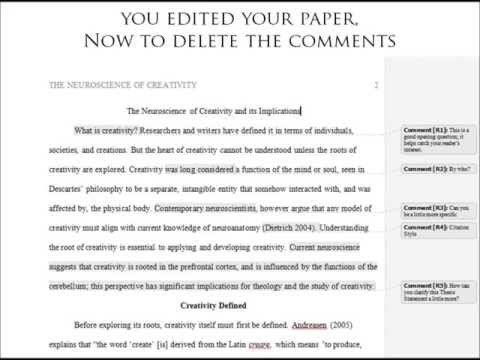 Removing Comments From Your Paper