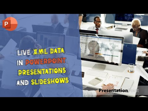 Live XML data in PowerPoint presentations and slideshows