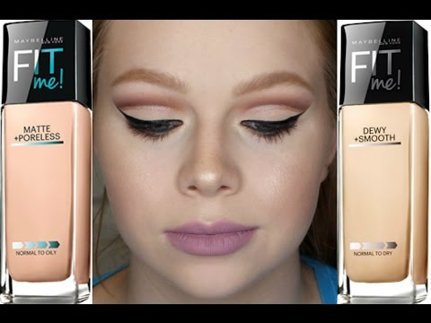 Maybelline Fit Me: Matte + Poreless VS. Dewy + Smooth