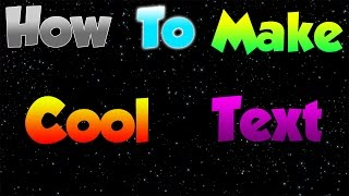 How to make cool text for thumbnails!