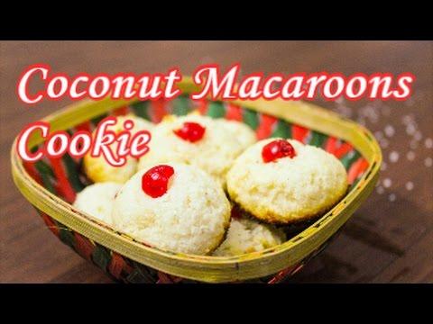 Eggless Coconut Macaroons|Italian dish| Eggless Coconut Cookies|Madhuri's Recipe