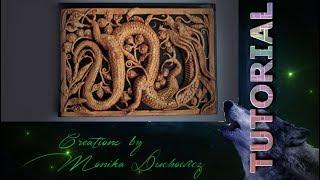 TUTORIAL Imitation wooden openwork carving Dragon