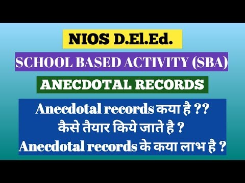 Anecdotal records/school based activity/511.2.3/Bedionline