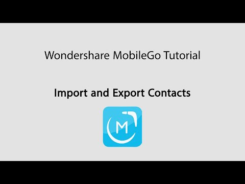 MobileGo: Import and Export Contact Lists on Android Devices