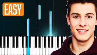 """Shawn Mendes - """"In My Blood"""" 100% EASY PIANO TUTORIAL"""